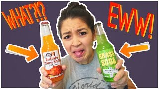 TRYING WEIRD SODA FLAVORS!