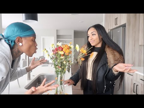 ANOTHER GUY BOUGHT ME FLOWERS PRANK!!