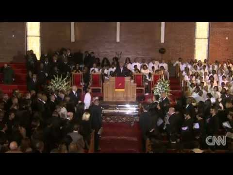 whitney houstons casket leaves church on i will always