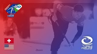 Switzerland v United States - Round-robin - World Mixed Doubles Curling Championship 2018