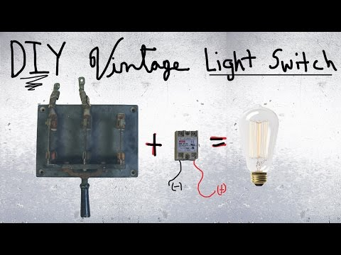 DIY Vintage Light Switch (Knife Switch and Relay)