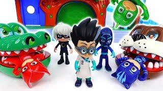 Romeo With Giant Bulldog & Croc~! Go PJ Masks - ToyMart TV