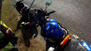 ...biker in distress - well , a kaput Scooter !