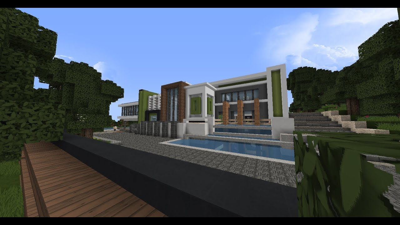 Visite d 39 une maison moderne fr minecraft 4 par craftdark youtube for Photo maison moderne