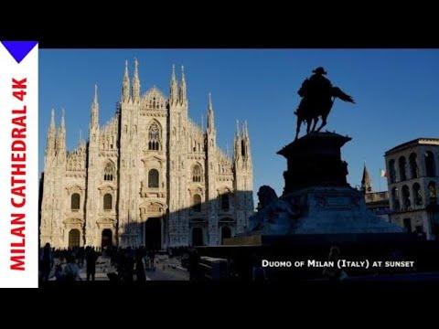 Duomo Milan at sunset - 4K video