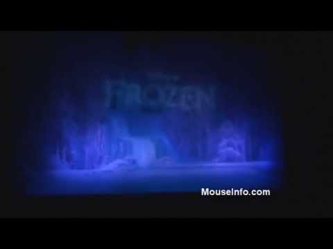 Disney Frozen curtain show at El Capitan Theatre, November 24, 2013