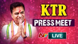 TRS Working President KTR Press Meet LIVE | Election Results 2019 | NTV Live