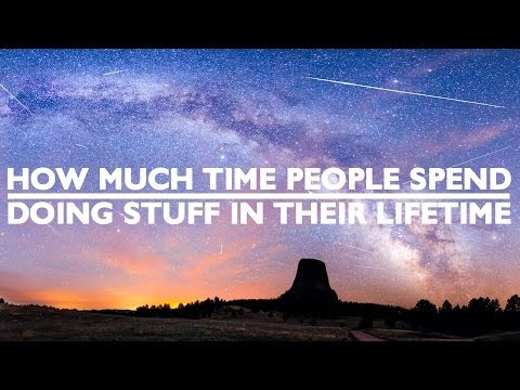 How Much Time People Spend Doing Stuff In Their Lifetime