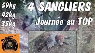 Belle Journée De Chasse:4 Sangliers Tirés.Battue Dans Le Gard