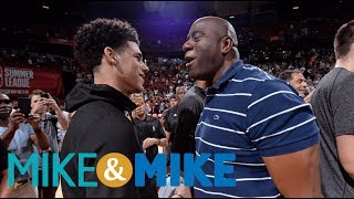 Magic Johnson doesn't want to mess with Lonzo Ball's shot | Mike & Mike | ESPN