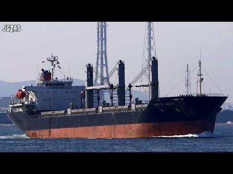 PACIFIC VENUS Bulk carrier バラ積み船 MOL 関門海峡 2014-FEB