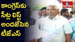 Kodandaram's TJS Provided Seat List to Congress  | hmtv