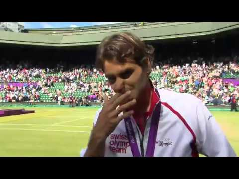 Interview with Roger Federer after London 2012 medal ceremony