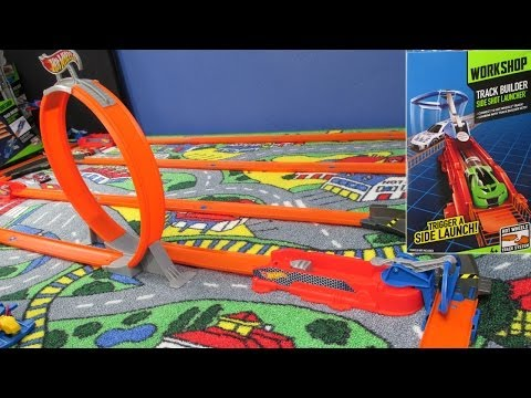 Side Shot Launcher Just Like Trick Tracks! Hot Wheels Track System