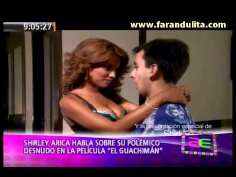 AE 14-10-2011 Shirley Arica polemico desnudo en la pelicula