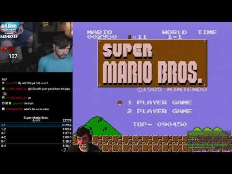Разбор мирового рекорда в Super Mario Bros. Any% + TAS