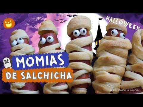 Momias de Salchicha de Pavo Recetas Halloween