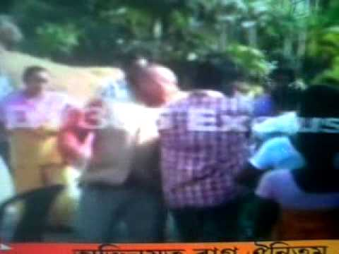 Rape Accused Assam CONGRESS LEADER BIKRAM BRAHMA TRASHED BY LOCAL PUBLIC IN CHIRANG