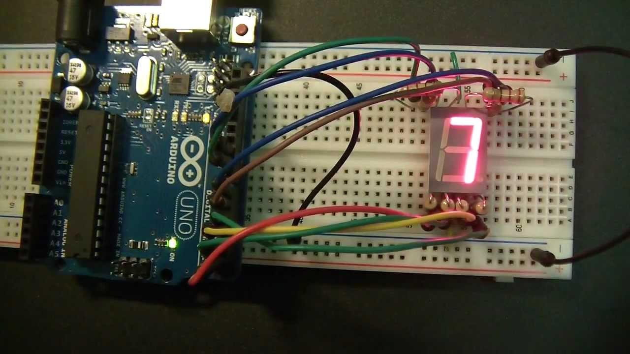 Controlling a Seven-Segment Display Using Arduino