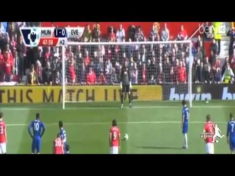 Manchester United Vs Everton 2-1 Leighton Baines Penalty Miss