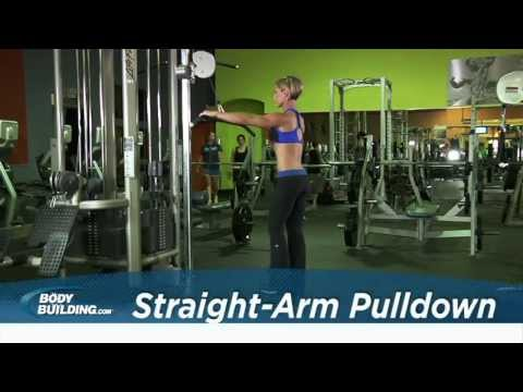 Straight-Arm Pulldown - Back Exercise - Bodybuilding.com Image 1