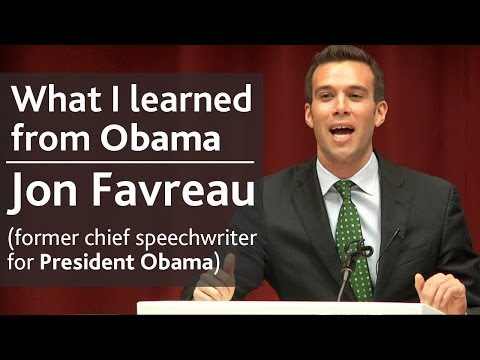 What I learned from President Obama | Jon Favreau (speechwriter) | UCD Literary & Historical Society