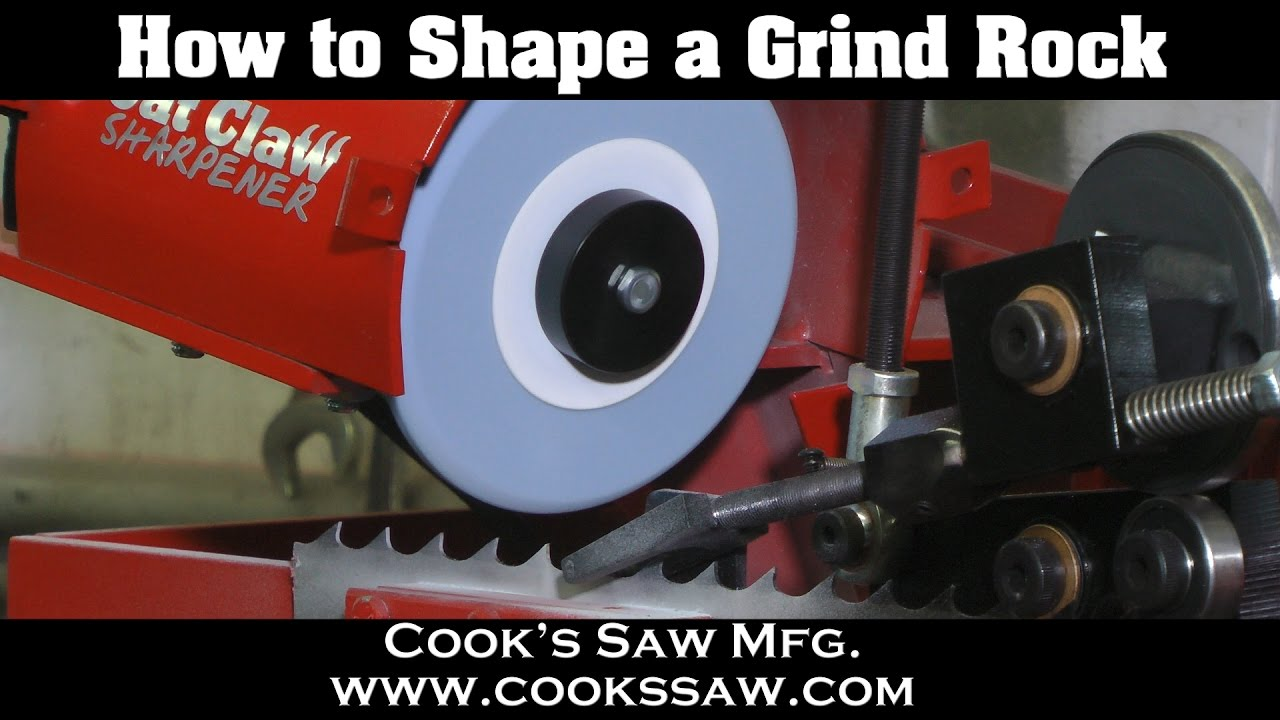 How to shape a grind rock