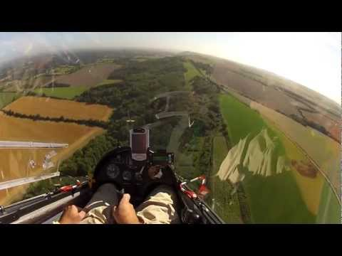 Go Pro Gliding 2012 - Ridge Running along the Southdowns and Cross Country flying