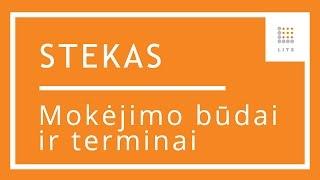 8 Mokejimo būdų ir terminų suvedimas STEKAS apskaita buhalterinėje programoje | LITS