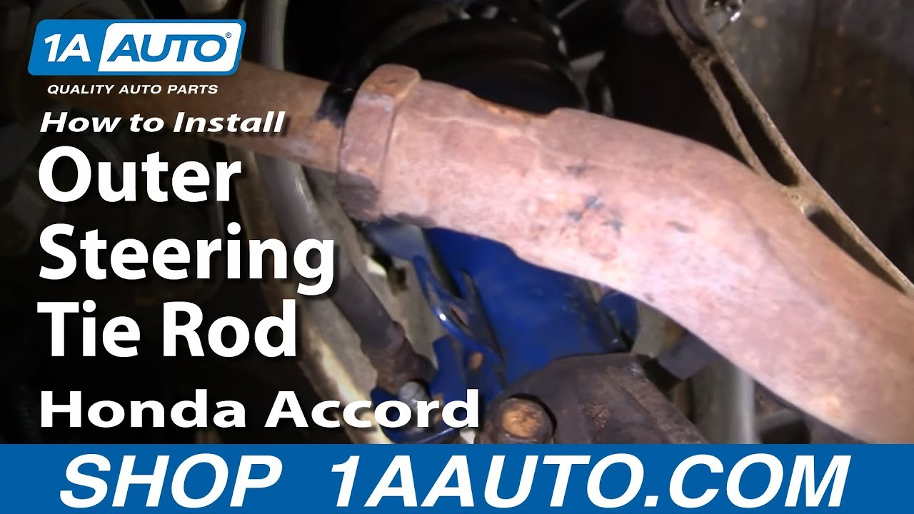 How To Install Replace Outer Steering Tie Rod Honda Accord