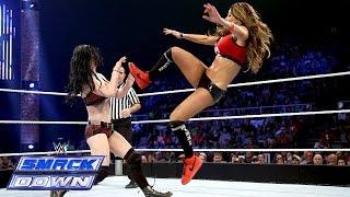 කොහොමද කෙල්ලන්ගෙ ගැහිල්ල  Nikki Bella vs. Paige: SmackDown, Sept. 19, 2014