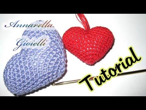 Amigurumi Uncinetto Tutorial : Tutorial uncinetto Cuore amigurumi crochet heart ...
