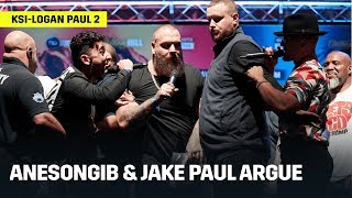 AnEsonGib Confronts Jake Paul At KSI vs. Logan Paul UK Press Conference