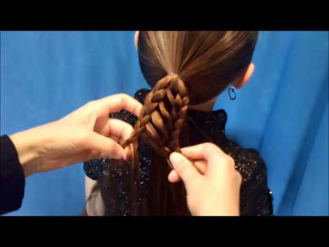 Stripe Braid Ponytail, Back To School Hairstyles