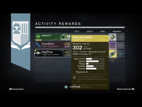 Destiny: Cerberus Vae III Nightfall Rewards x3