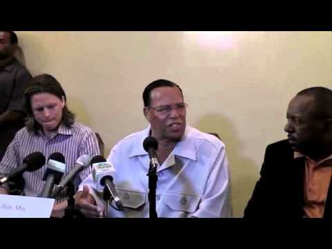 LOUIS FARRAKHAN press conference in Nassau, Bahamas