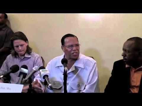 LOUIS FARRAKHAN press conference in Nassau, Bahamas