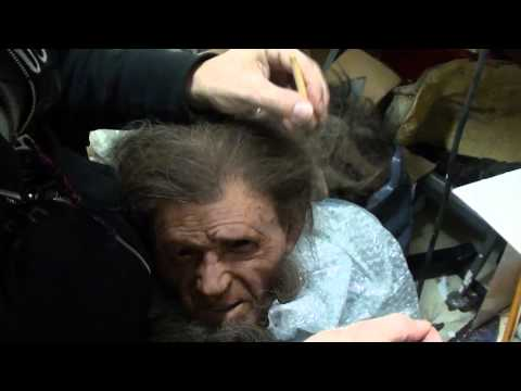 Inserting the hair on the reconstruction's head