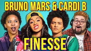 Adults React To Bruno Mars Ft Cardi B Finesse
