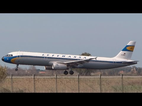 Plane Spotting @ Rome Fiumicino Airport - March 16 2013 - HD