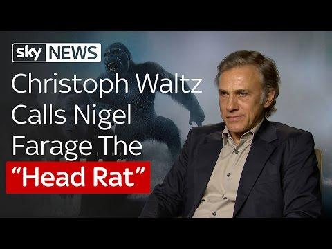 "Christoph Waltz Calls Nigel Farage The ""Head Rat"""