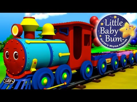 The Color Train Song! Learn Colors with the LittleBabyBum Train...