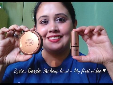 My First video - Eyetex Dazzler Makeup Haul 2017. Mini Reviews!! :)