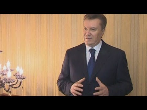 Ukraine protests: Viktor Yanukovych 'will not resign' as Ukraine's president