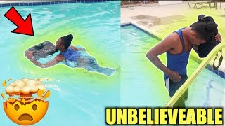 ANGRY PREGNANT GIRLFRIEND THROWS MACBOOK IN POOL‼️