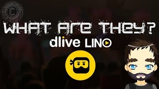 What is the Lino blockchain and what role does DLive play on it?