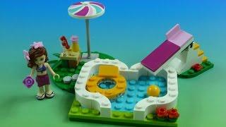 "Đồ Chơi ""LEGO FRIENDS"" Lắp Ráp LEGO  Hồ Bơi Sân Vườn (Bí Đỏ) Lego Friends Olivia's Pool Garden"