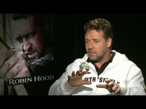 RUSSELL CROWE Interview for Robin Hood