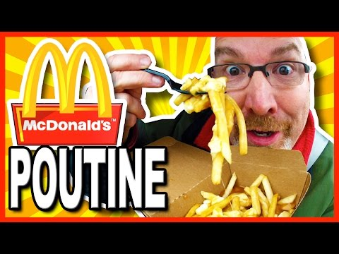McDonald's Poutine Review and Drive Through Test. POUTINE - Fries, Cheese Curds & Gravy