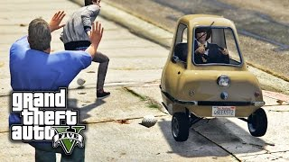 GTA V PC E10 - Losing Stars in a Peel P50 (Realism Dispatch Enhanced)